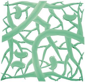 Koziol Pi:p Raumteiler Dekoelement 4er-Set transparent mint