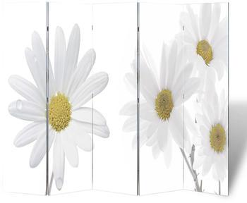 vidaXL Foldable Room Divider Flowers 200 x 170 cm