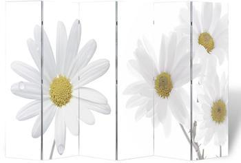 vidaXL Foldable Room Divider Flowers 240 x 170 cm