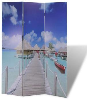 vidaXL Foldable Room Divider Beach 120 x 170 cm
