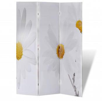 vidaXL Foldable Room Divider Flowers 120 x 170 cm