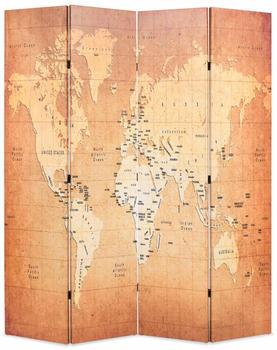 vidaXL Foldable Room Divider World Map 160 x 170 cm
