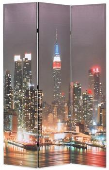 vidaXL Foldable Partition New York at Night 120 x 170 cm