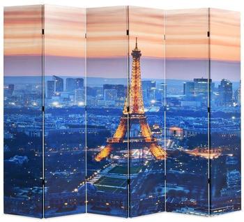 vidaXL Foldable Partition Paris at Night 228 x 170 cm