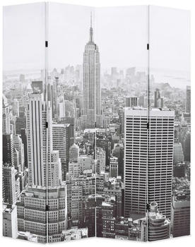 vidaXL Foldable Partition New York Black and White 160 x 170 cm