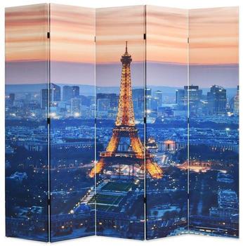vidaXL Foldable Partition Paris at Night 200 x 170 cm