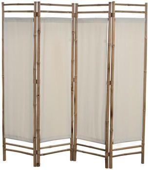 vidaXL Foldable Partition Bambou 160 x 160 cm