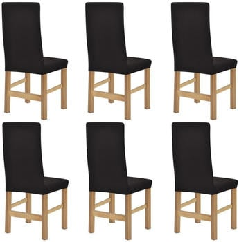 vidaXL Chair Covers Expandable 6 Pieces Brown