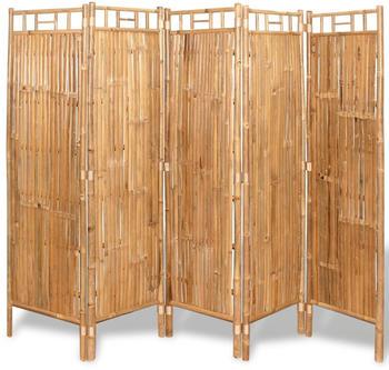 vidaXL Raumteiler Bambus 5-tlg. 200x160cm