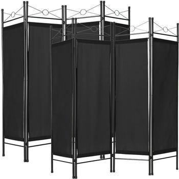 tectake-stellwand-2x-schwarz
