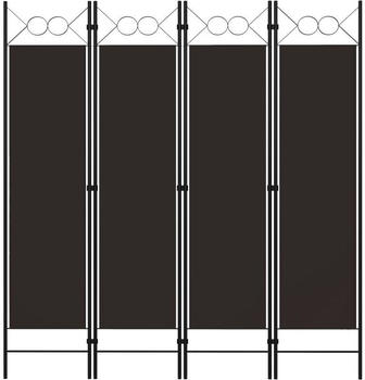 vidaXL Raumteiler 4-tlg. 160x180cm braun