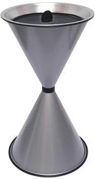 SZ Metall spitzer Kegel (71 x 40 cm) silbermetallic