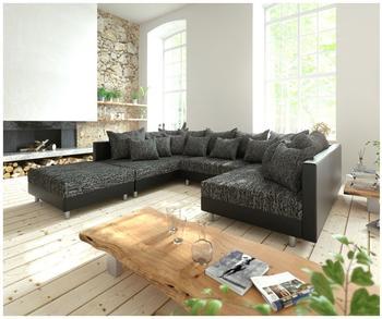 DeLife Clovis XXL 300x185cm schwarz Kissen Hocker