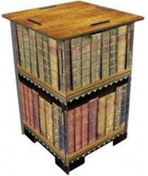 Werkhaus Photohocker antike Bücher (SH 8183)