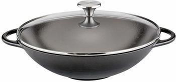 Küchenprofi Provence Wok mit Deckel 30 cm schwarz