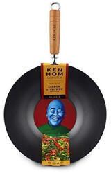 Ken Hom Wok KH331001 Stahl Ø 31 cm, schwarz