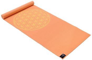 Yogistar Yogamatte Basic Flower of Life mango