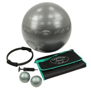 Carnegie Fitness Carnegie Yoga Pilates Fitness Set - Gymnastikball, Pilates Ring, Toning Balls und Matte