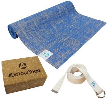 """#DoYourYoga Yogaset """"Natur"""" blau"""