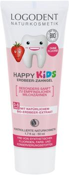 Logona Logodent Happy Kids Erdbeer-Zahngel (50ml)