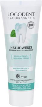 Logona Logodent Naturweiss Pfefferminz-Zahncreme (75ml)