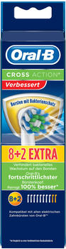 Oral-B CrossAction Bakterienschutz Ersatzbürsten (8 + 2 Stk.)