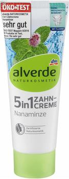 Alverde 5 in 1 Zahncreme Nanaminze 75 ml