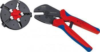 Knipex MultiCrimp Crimpzange mit Wechselmagazin 0,25-6mm² (97 33 01)