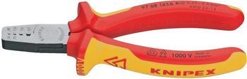 Knipex VDE Crimpzange für Aderendhülsen 145 mm (97 68 145 A)