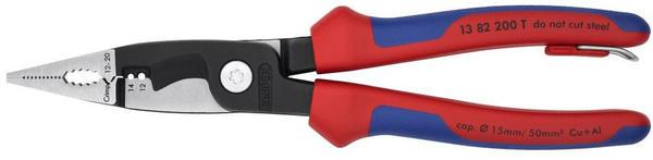 Knipex Elektro-Installationszange 200mm (13 82 200 T BK)