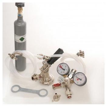 ich-zapfe Zubehörpaket mit 1x Flach-Fitting, 7mm Bierschlauch und 0,5 kg CO2 Flasche