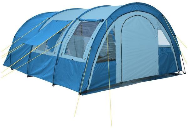 CampFeuer Tunnelzelt blau/hellblau