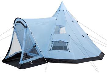 CampFeuer Indianerzelt mit Vorbau hellblau/schwarz