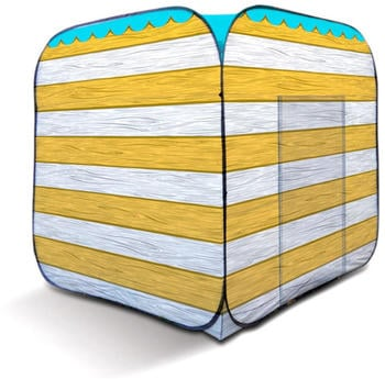 OLPro Pop Up Beach Hut Yellow