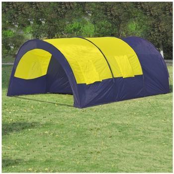 vidaXL Tunnel Tent x6 Yellow 90416
