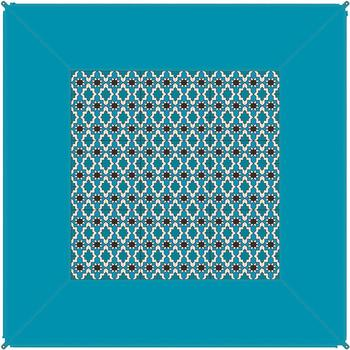 Bent BENT Zip Carpet Teppich, 250x250cm, blau
