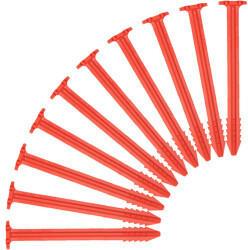 SwissPiranha RT150 Zeltheringe 10-Stück mit Säckli Beutel red