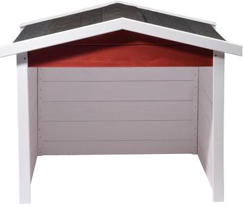 Dobar Mähroboter-Garage (5619) rot-weiß-anthrazit