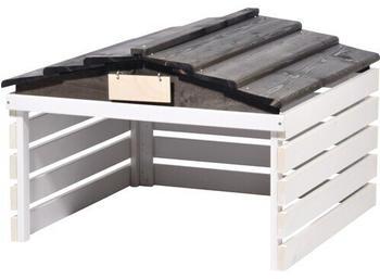 Dobar Mähroboter-Garage (5619) weiß-schwarz